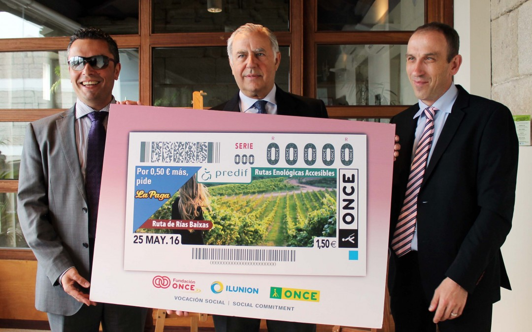 ONCE dedicates 5.5 million lottery tickets to the Accessible Wine Route of Rías Baixas