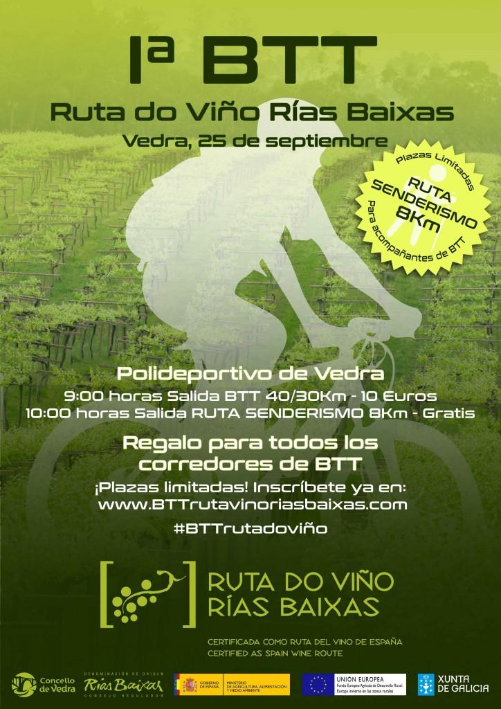 Vedra acogerá el 25 de septiembre la primera BTT de la Ruta do Viño Rías Baixas