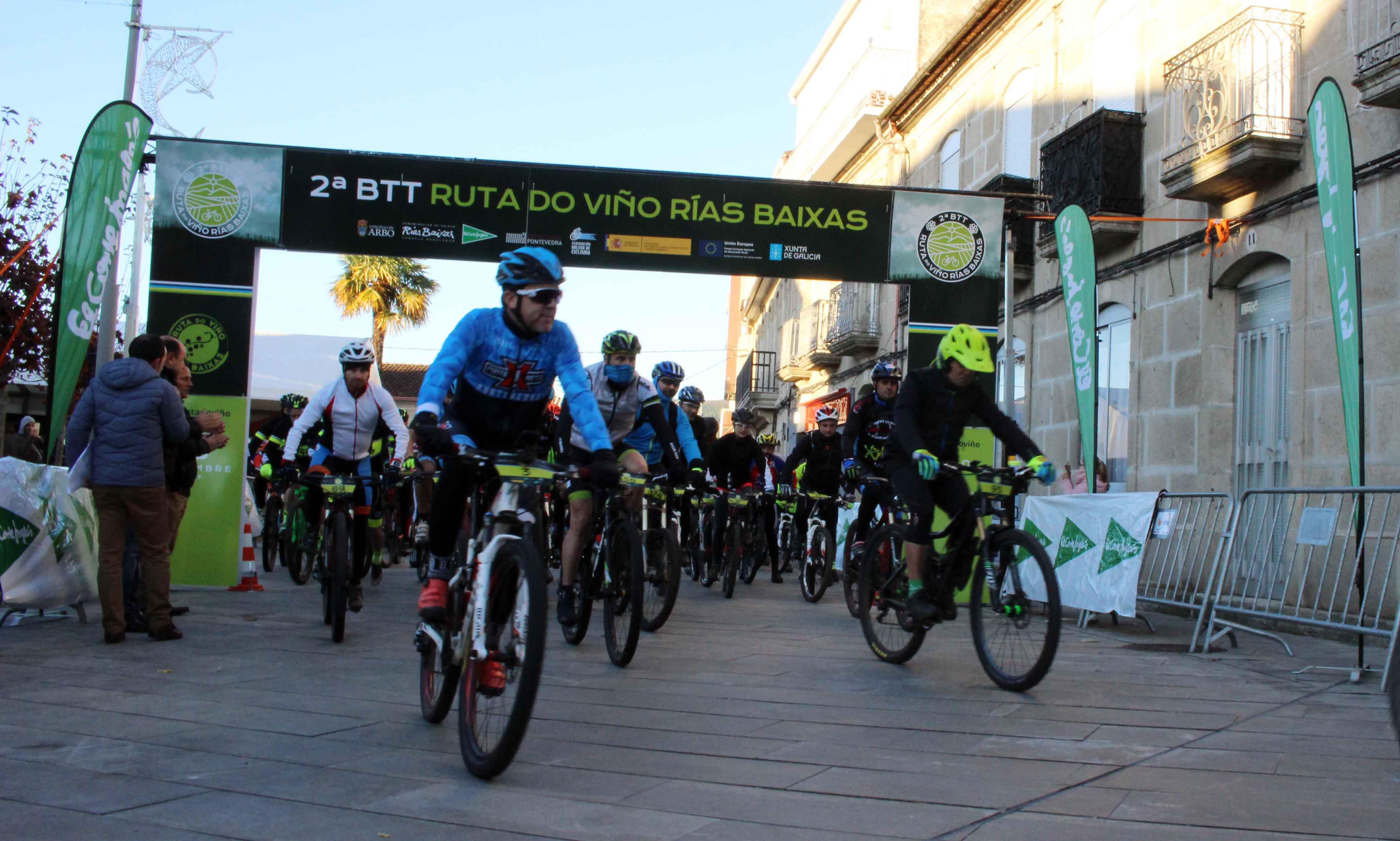 Jornada de enoturismo y deporte en Arbo con la II BTT Ruta do Viño Rías Baixas