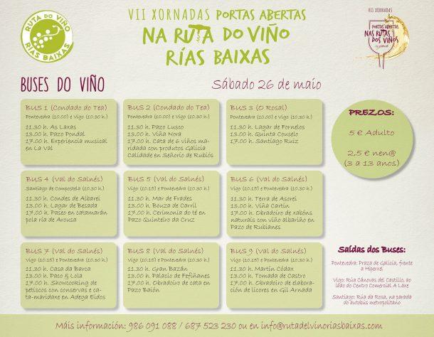 Buses do Viño de la Ruta do Viño Rías Baixas