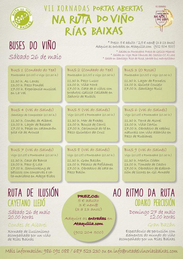 La Ruta do Viño Rías Baixas incorpora enoexperiencias a sus Buses del Vino con motivo de las VII Xornadas de Portas Abertas