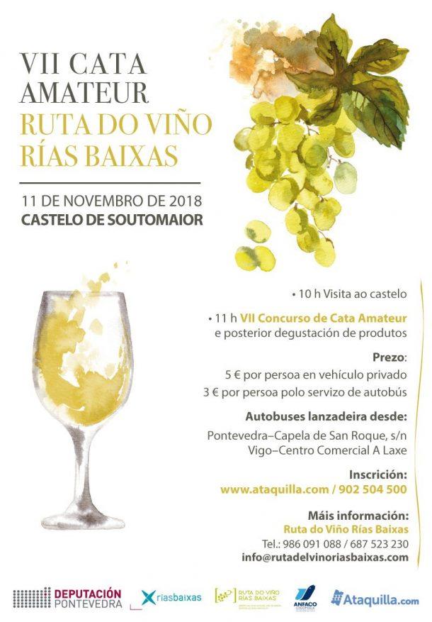 A Deputación de Pontevedra e a Ruta do Viño organizan a VII Cata Amateur que se celebrará o 11 de novembro en Soutomaior