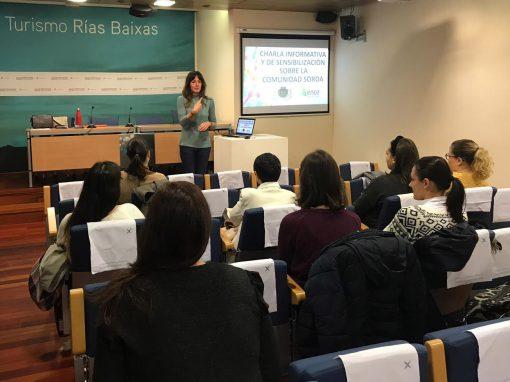 La Ruta do Viño Rías Baixas y Turismo Rías Baixas organizan una charla informativa en colaboración con la Asociación de Persoas Xordas de Pontevedra