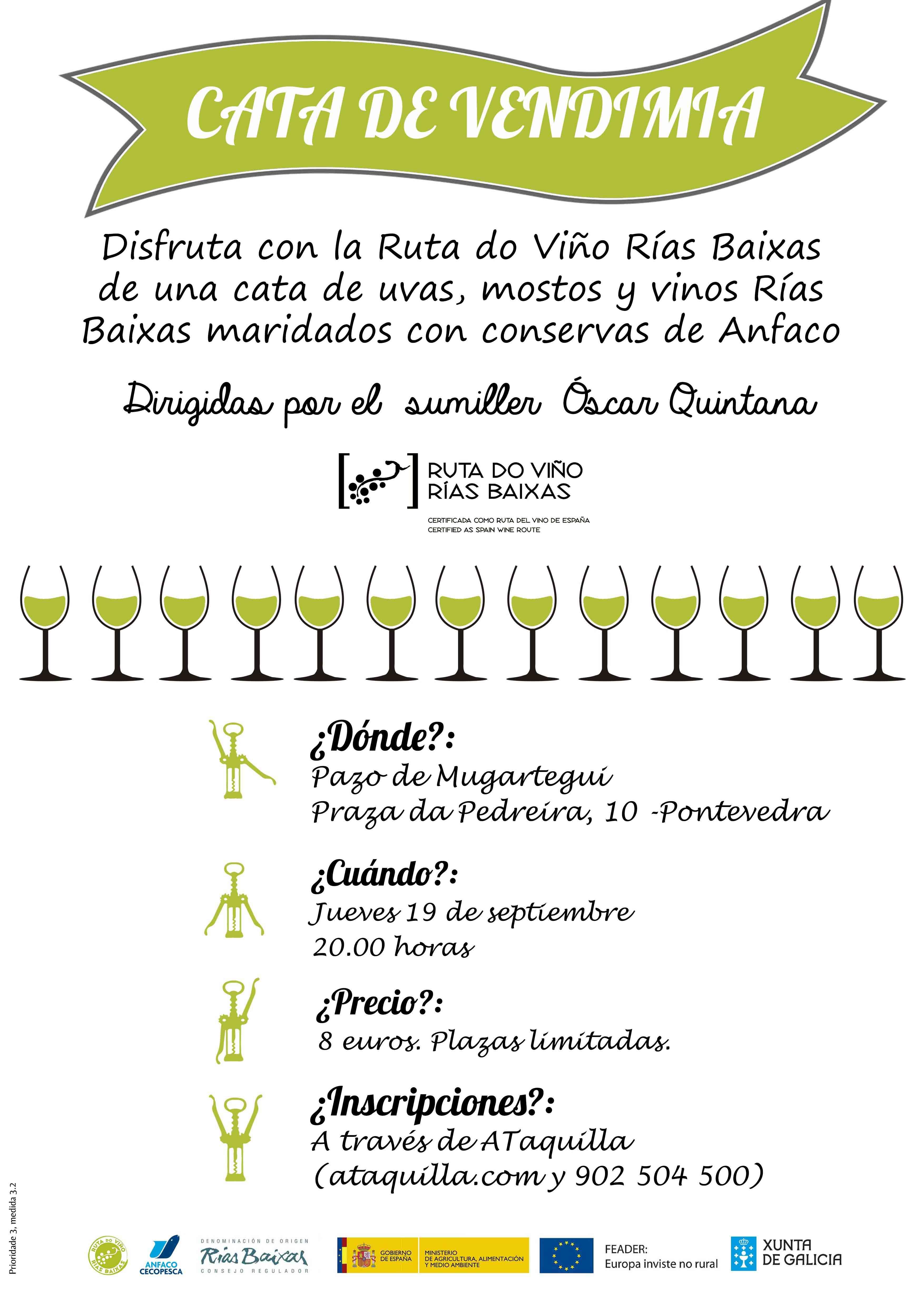 La Ruta do Viño Rías Baixas programa su 'Cata de Vendimia' para el 19 de septiembre