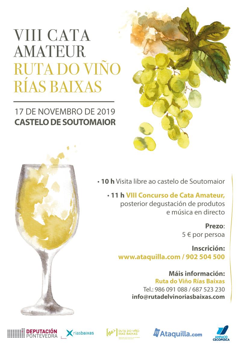Soutomaior acogerá el 17 de noviembre una nueva edición de la Cata Amateur Ruta do Viño Rías Baixas