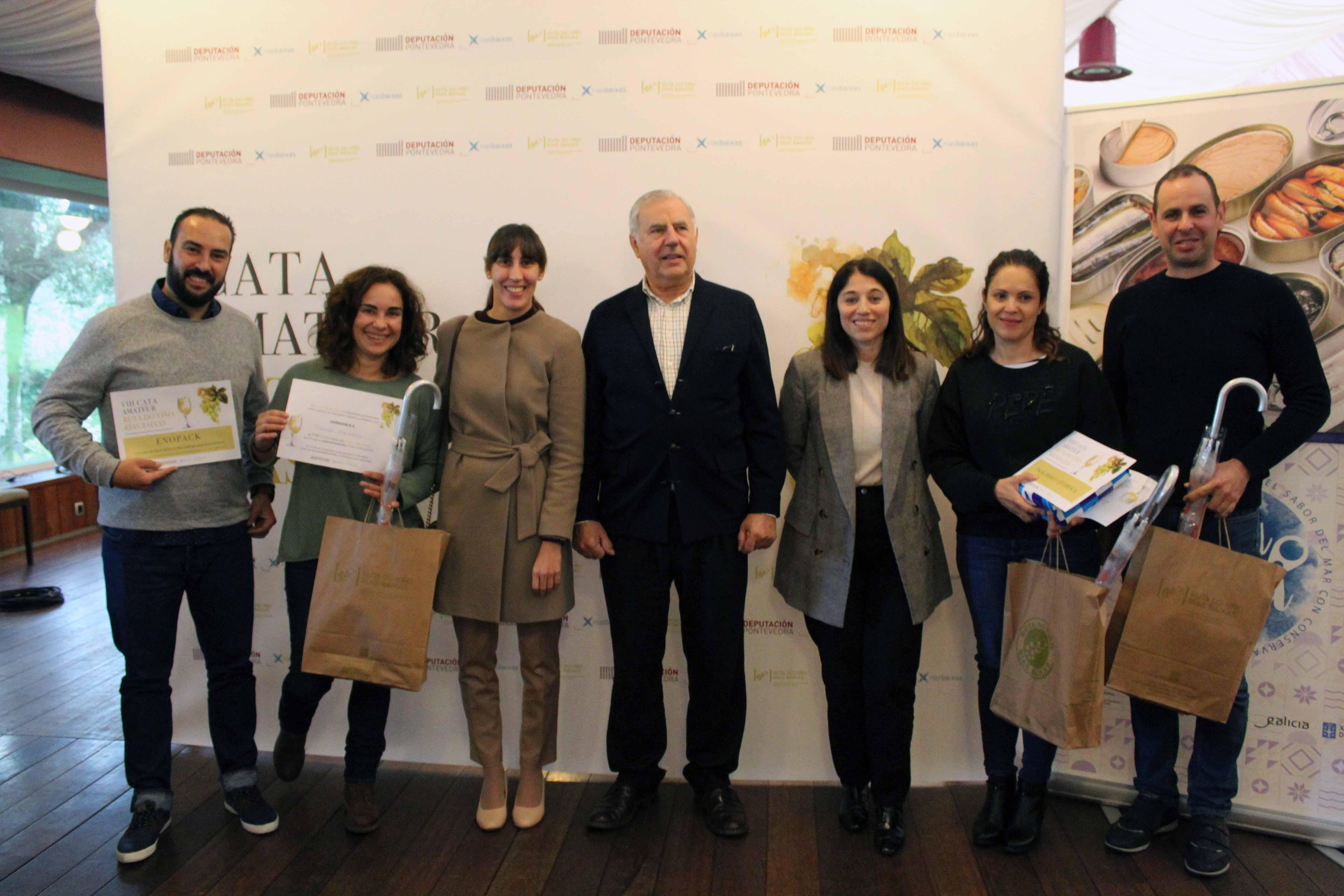 Cuatro personas vencieron en la VIII Cata Amateur Ruta do Viño Rías Baixas
