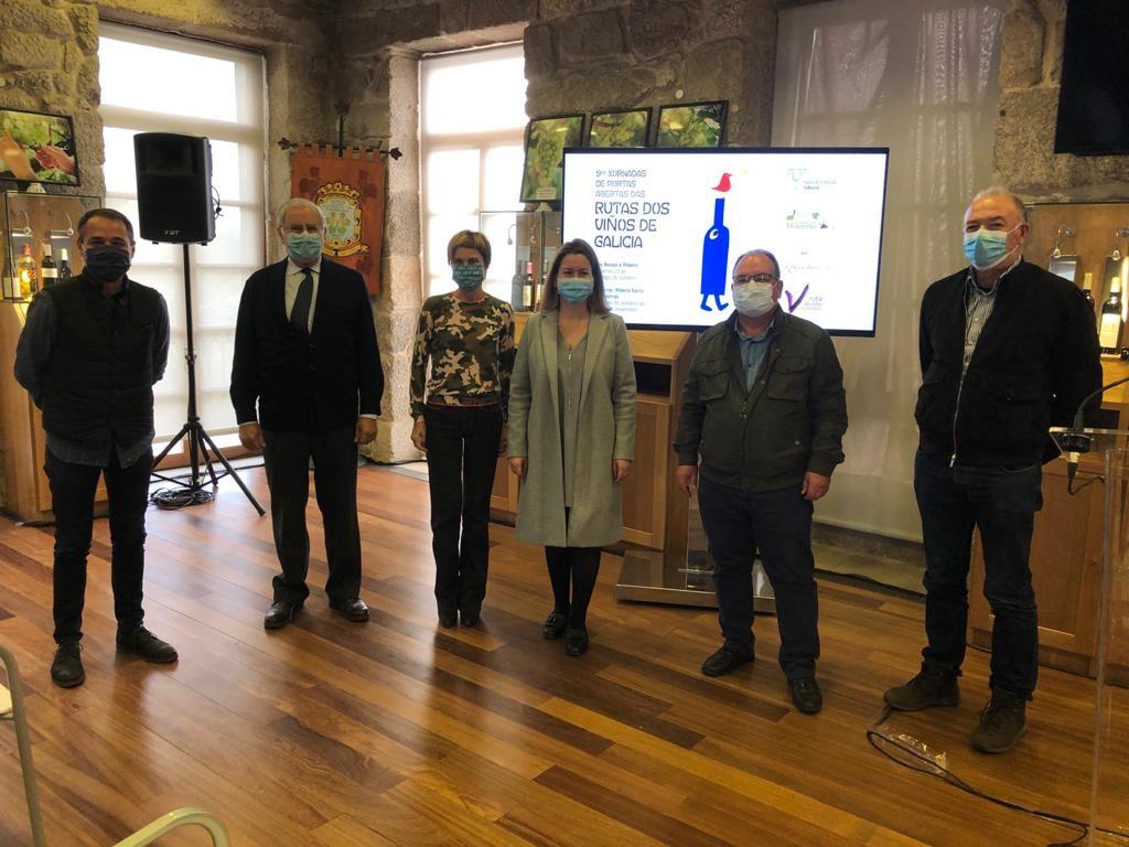 Rías Baixas asiste a la presentación de las  IX Jornadas de Puertas Abiertas de las Rutas del Vino de Galicia