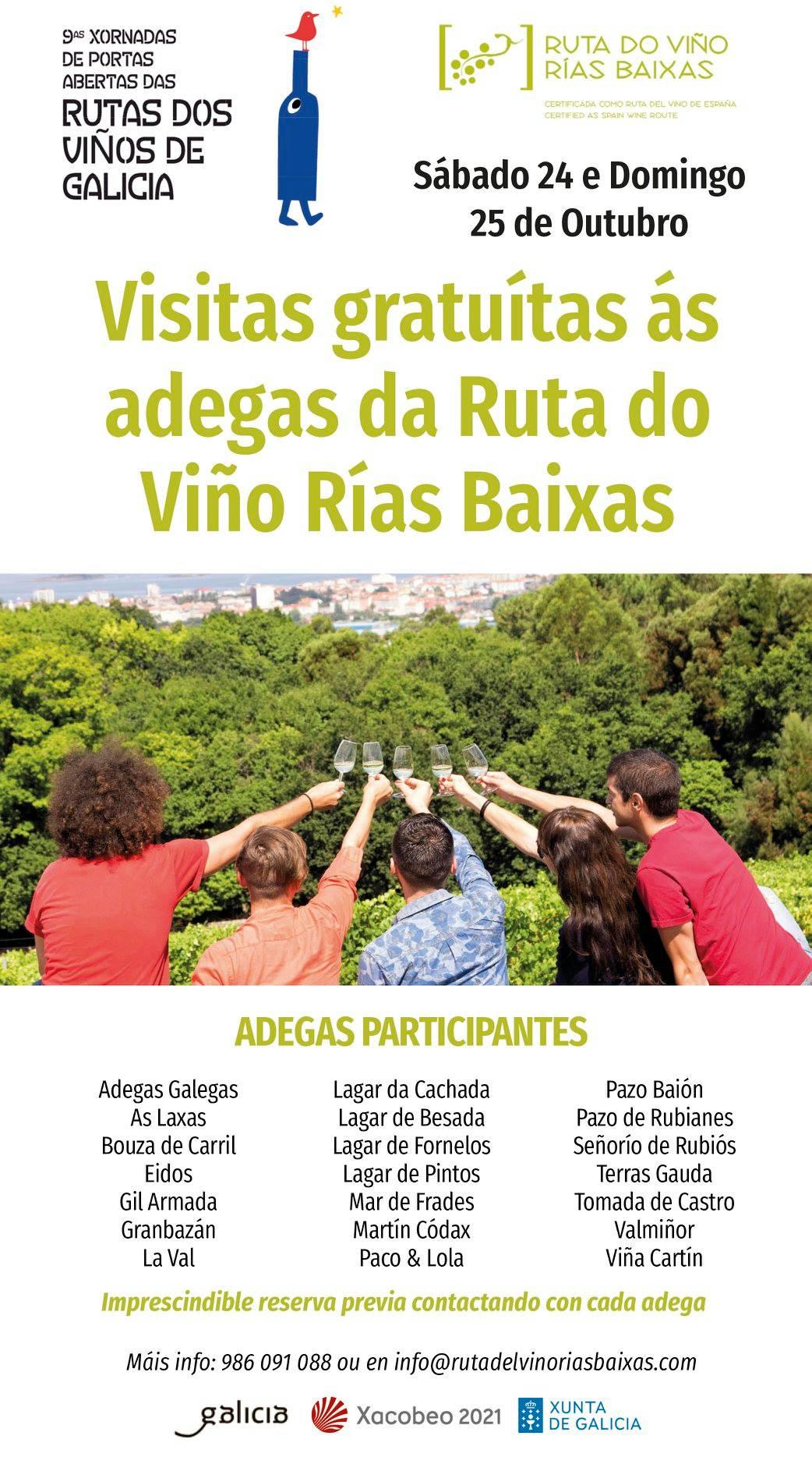 Plazas agotadas en los Buses del Vino para las Jornadas de Puertas Abiertas de la Ruta do Viño Rías Baixas
