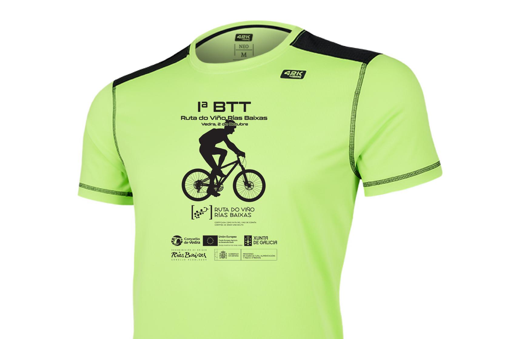Los participantes en la 1ª BTT Ruta do Viño Rías Baixas se llevarán una botella de vino Rías Baixas y una camiseta técnica de regalo