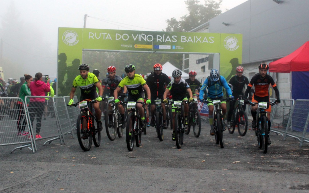 Éxito de la 1ª BTT Ruta do Viño Rías Baixas con alrededor de 200 ciclistas