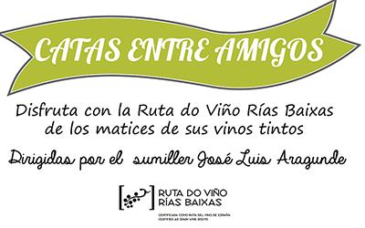 La Ruta do Viño Rías Baixas inicia su programa de Catas entre Amigos este viernes con una degustación de tintos en Santiago