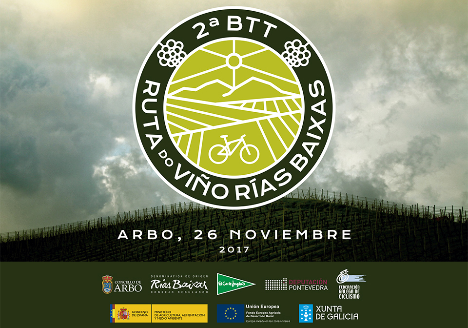 La II BTT Ruta do Viño Rías Baixas, que se celebrará el 26 de noviembre en Arbo, abre de nuevo sus inscripciones