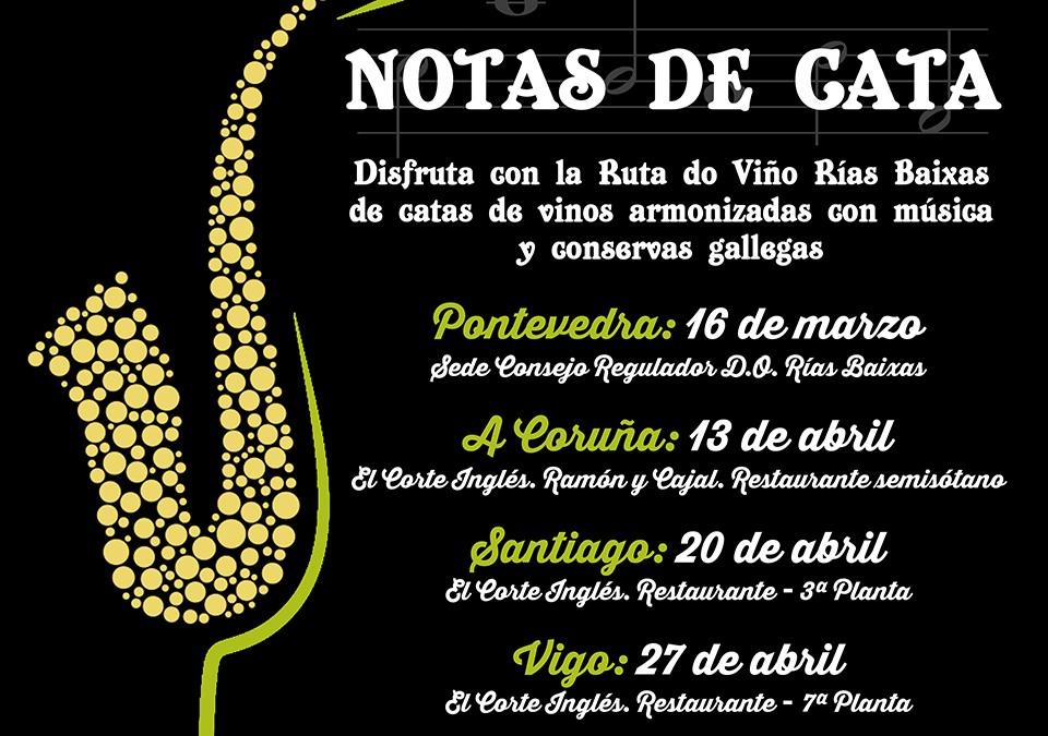 Las 'Notas de Cata' de la Ruta do Viño Rías Baixas recalan el próximo 13 de abril en El Corte Inglés de Ramón y Cajal (A Coruña)