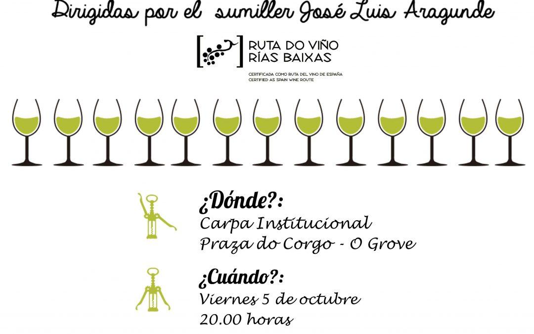 La Ruta do Viño Rías Baixas organiza una nueva sesión de sus Catas entre Amigos dentro de la Festa do Marisco do Grove