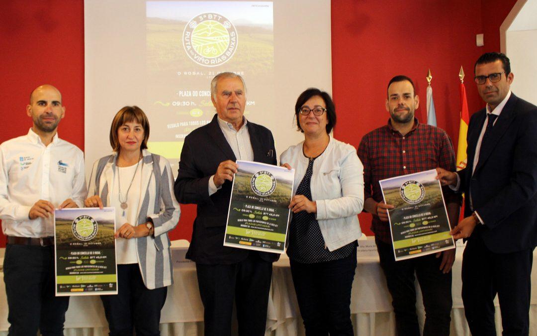 La 3ª BTT Ruta do Viño Rías Baixas espera registrar un nuevo éxito con 250 participantes