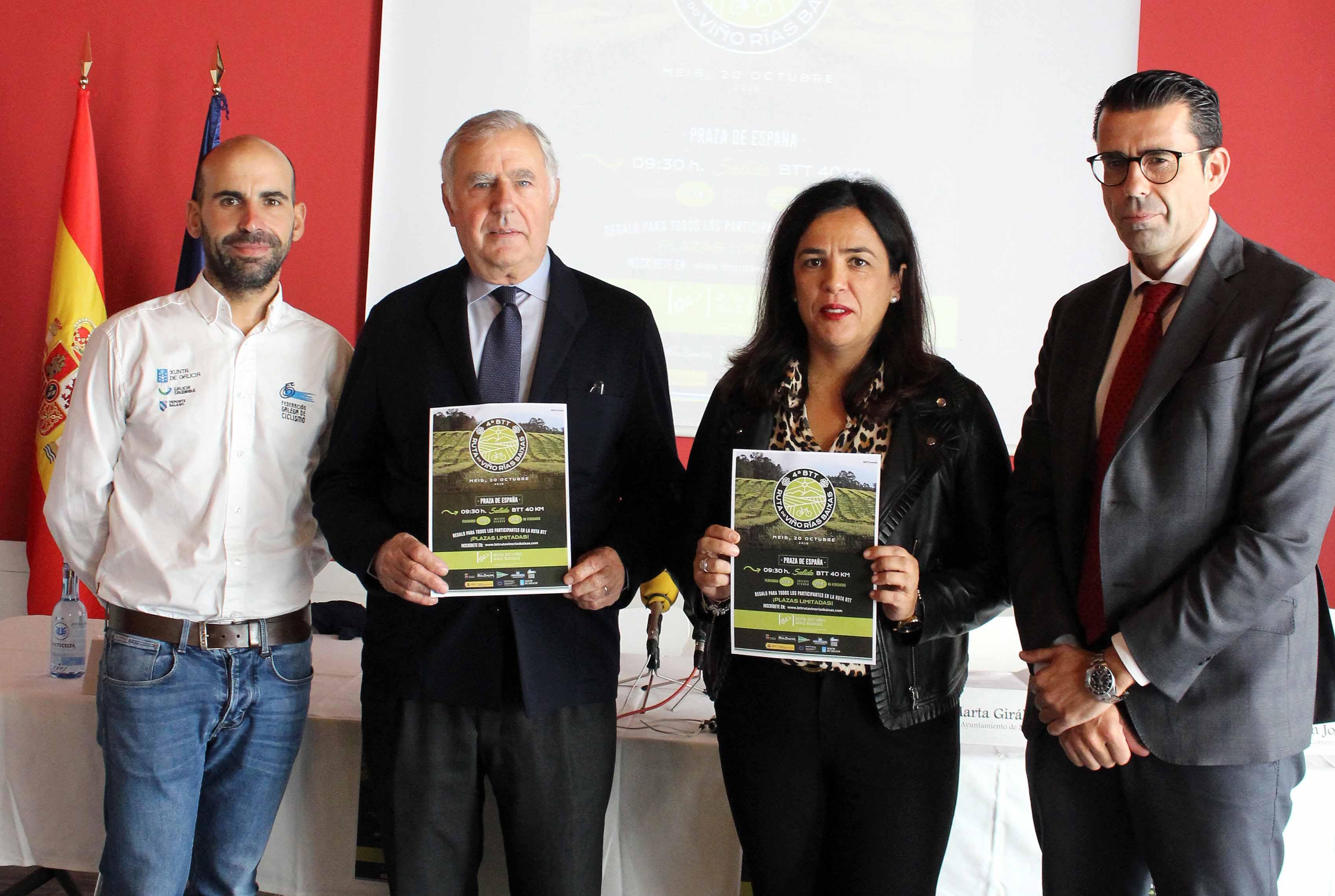 La Ruta do Viño Rías Baixas busca consolidarse en el calendario deportivo anual con la cuarta edición de su marcha BTT