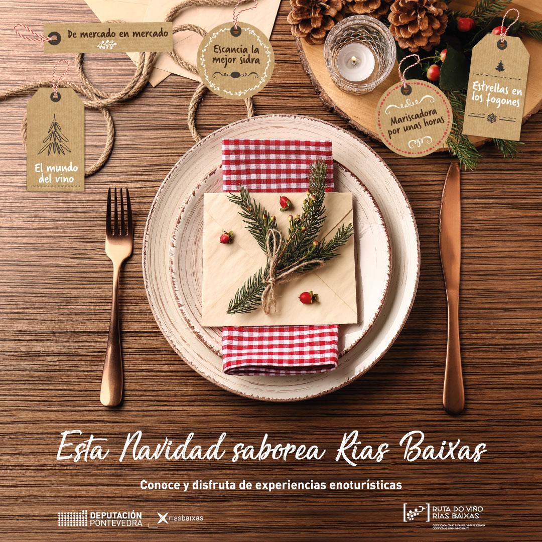 La Ruta do Viño Rías Baixas y Diputación de Pontevedra se unen de nuevo en una campaña que promueve el enoturismo como regalo navideño