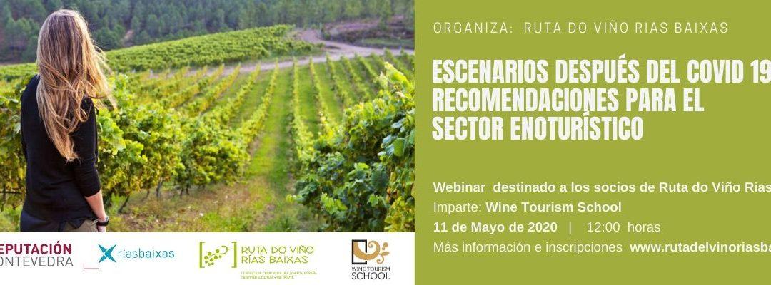Ruta do Viño Rías Baixas organiza dos seminarios online con Wine Tourism School