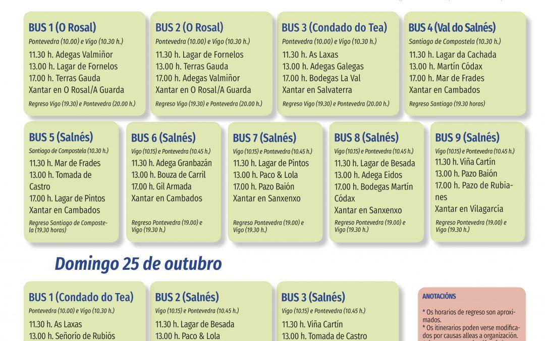 La Ruta do Viño Rías Baixas pone a la venta las entradas de sus actividades con motivo de las Jornadas de Puertas Abiertas